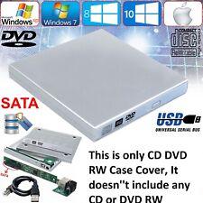 USB 2.0 External Slim Caddy Case Drive Enclosure Laptop NoteBook SATA DVD CD Rom