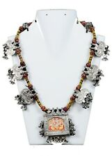 Old Antique Collectible Ethnic Jewelry Tribal Indian Amulets Necklace G10-119 US
