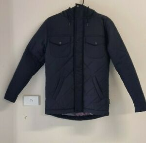 Mr Simple Men's Hooded Winter Jacket Quilted Black Size XS Used RRP $180.00