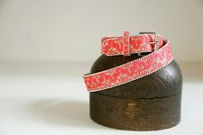 Coral Pink Crochet Sequinned Embellished Belt |Decorative Evening Belt