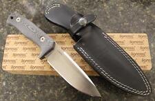 LionSteel T5 MI Fixed Blade Knife Niolox Tool Steel Black Leather Sheath ITALY