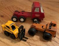 Tonka Vintage 1970's Minis Pressed Steel Lot Forklift Etc. Rare! Red Cab