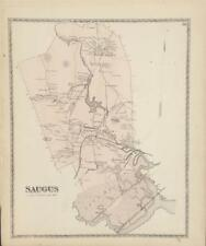 Antique Map Saugus, MA - DG Beers Atlas of Essex Co 1872