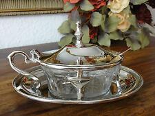 Zuckerdose Jugendstil Marmeladen Dose Silber Parmesan Schälchen Tapas Glas Antik
