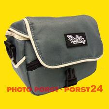 Mikrofaser Tasche grau für Nikon 1 AW1, 1J2, 1S1, 1S2 + Objektiv 11-27,5mm