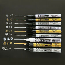 Sakura Waterproof Permanent Paint Marker Pen  0.7mm/1mm/2mm Gold & Silver White