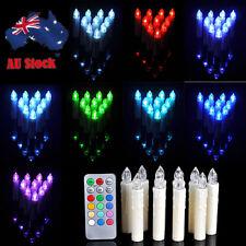10pcs 12X Colors LED Flameless Tea Tree Candles Light Christmas Wedding Party