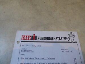 Kundendienstbrief Case-IH Schalldämpfer-Farbe Über 3000 Artikel im Shop!!!