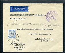 R.A.P.W.I.env Per eerstv Skymaster KEMAJORAN, noodstempel 21 jan 1946, PORT P 78