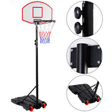 Adjustable Basketball Hoop System Stand Kid Indoor Outdoor Net Goal w/ Wheels