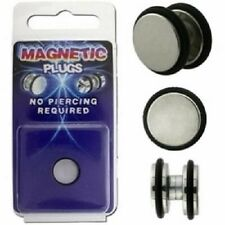 Magnetic Earring Fake Flesh Plug Ear Stud Stretcher Piercing Clip-on Ring Mens