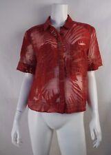 MAEVE Anthropologie Red Hawaiian Sheer Top - size 12 / XL