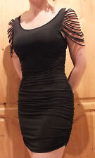 New Look ~ Urban Angel Black Rouched Dress - Size 10