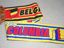 Belgium v ColOmbia FOOTBALL scarf match souvenir rare limited two sided collect!