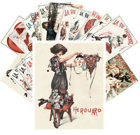 Postcards Pack [24 cards] Pinup La Vie Parisien Cheri Herouard Vintage CC1037