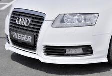 Rieger CUP Spoilerlippe für Audi A6 C6 4F Facelift Front Schwert Lippe Ansatz