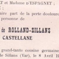 Marie Antoinette Delphine De Rolland-Sillans Hippolyte De Castellane 1912