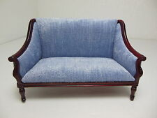 Dollhouse Miniatures Furniture 1/12: 3200vbs-mh Mahogany Upholstered Couch
