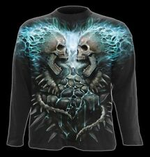Spiral Flaming Spine All-over T-shirt Long Sleeve Adult Male Large Black WR