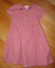 ESPRIT MINI Girl Gingham Red White Girl DRESS Sz 4 5 Country School Holiday