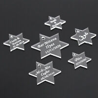 50*Personalized Wedding Hexagon Star Label Baptism Birthday Gift Party Confetti