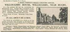 1936 Willoughby House Willoughby Near Rugby Country House 152 Acres For Sale