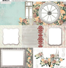 BoBunny Bella Rosa Collection 12 x 12 Vellum with Foil Accents Bo Bunny