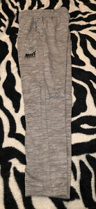 Nike Boys Dri Fit Heather Gray Sweat Track Pants Size Medium Excellent Preowned