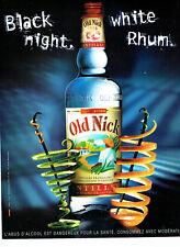 Publicité Advertising 078  2008   rhum Old Nick  antilles