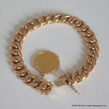 Bracelet Or 18k 750 + Piece 20frs Suisse 23.6grs - Bijoux occasion