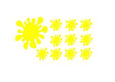 11 Stück Farbklecks Aufkleber In Gelb Sticker neu Cool 0401