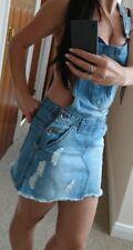sexy cute denim dungaree skirt uk 6/8