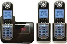 3 Motorola Cordless Handsets Phones Digital Home Caller ID Answer Voicemail Loud