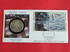 Isole MARSHALL 1994 gli eroi di D-Day di $5 Primo giorno COIN COVER-COA