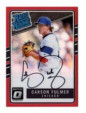 Carson Fulmer MLB 2017 DONRUSS optique Rated ROOKIES Signature Rouge (WHITE SOX #/50