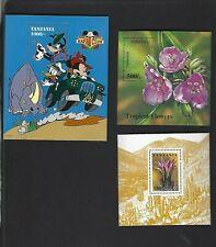 Tanzania sc#1266,1310,1395 (1994-5) Souvenir Sheet MNH