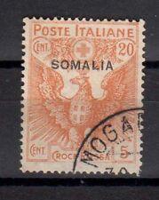 SOMALIA 1916 Croce Rossa 20c + 5c USATO (CL)