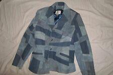 """Vintage """"Vakko Sport"""" Suede & Denim Women's Jacket Xl * Worldwide *"""