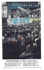 1953 Postcard ~ General Motors GM Motorama of 1953 Show Dates