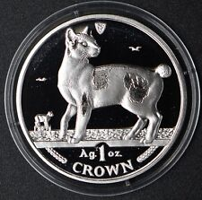 1994 Isle of Man, Proof Cat Crown, Japanese Bobtail Cat, Silver Coin W/Box&Coa