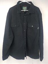 Woolrich Mens Long Sleeve Button Front Flannel Shirt Size 2XL Black Cotton