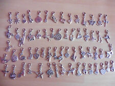 20 x Mixed Silver Tone Charms with Lobster Clasp ~ Gift Idea ~ Joblot Bundle