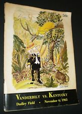 Vintage Football Program – Kentucky vs. Vanderbilt (Nov. 6, 1965)