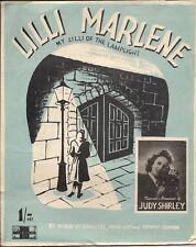 Judy Shirley Lilli Marlene la mia Lilli del Lamplight UK SPARTITI MUSICALI