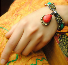 2502743 Traditional handmade Thailand Red Turquoise Teardrop Bracelets & Bangles