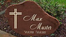 Schwere Gedenkplatte Grabstein Gedenktafel Gedenkstein Urne Tiergrab Moti Kreuz2
