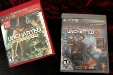 Uncharted And Uncharted 2 Sony PlayStation 3 Free Shipping