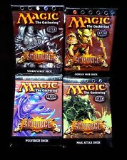 Scourge Theme Deck Set of 4 WOTC Magic the Gathering New
