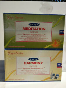 incenso SATYA indiano bastoncini SERIE YOGA meditazione harmony purificare casa