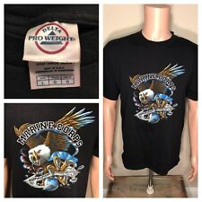 U.S MILITARY UNITED STATES MARINE CORPS DEATH BEFORE DISHONOR T SHIRT BALD EAGLE